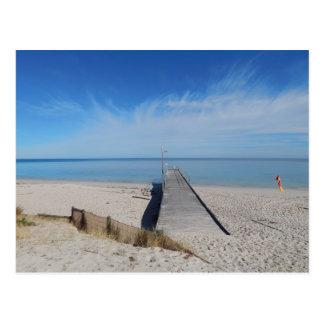 Normanville Strand, Südaustralien Postkarte
