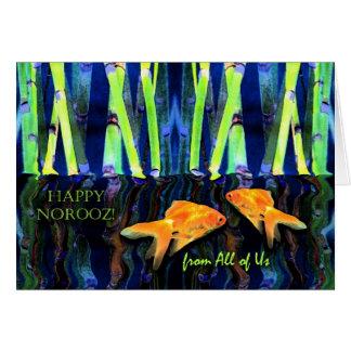 Norooz Goldfisch im Wasser, von allen uns Karte