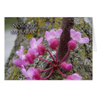 Norooz, Redbud Baum in der Blüte, Karte