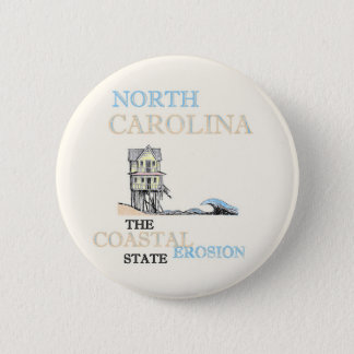 NORTH CAROLINA: Der Küstenabnutzungs-Staat Runder Button 5,1 Cm