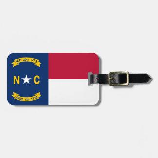 North Carolina-Flagge Gepäckanhänger