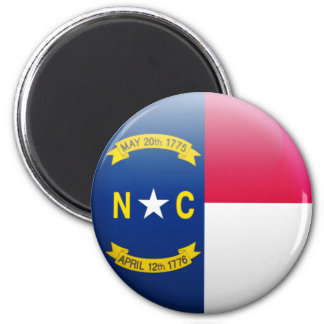North Carolina-Flagge Runder Magnet 5,7 Cm