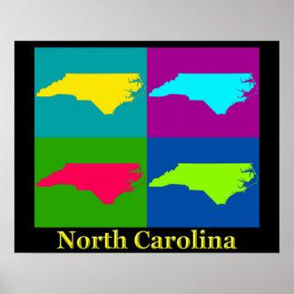 North Carolina-Karte Poster