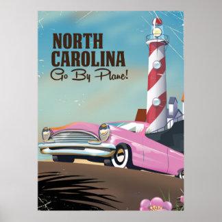 North Carolina-Leuchtturmreiseplakat Poster