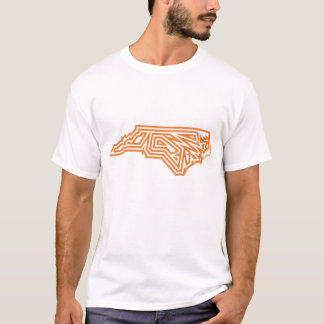 North Carolina-Orangen-Explosions-T-Stück T-Shirt