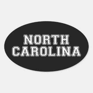 North Carolina Ovaler Aufkleber