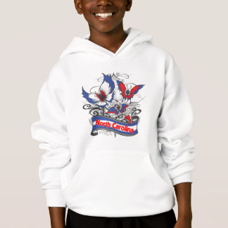 North Carolina-Patriotismus-Schmetterling Hoodie