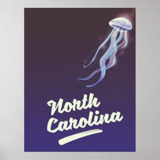 North Carolina-Quallenreiseplakat Poster