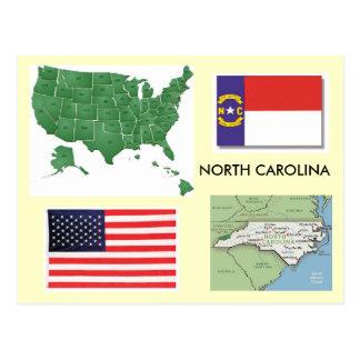 North Carolina, USA Postkarte