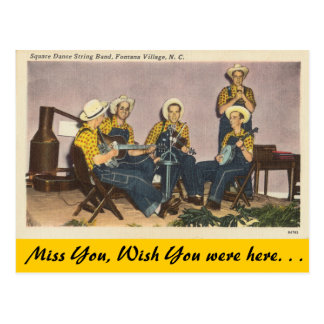 North Carolina, Volkstanz-Band, Fontana-Dorf Postkarte
