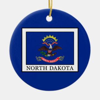 North Dakota Keramik Ornament