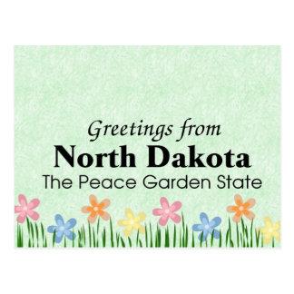 North Dakota Postkarte