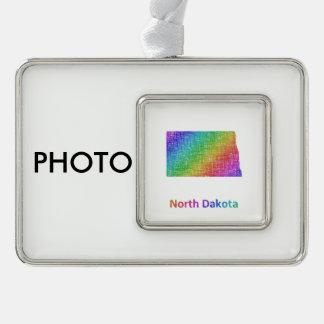 North Dakota Rahmen-Ornament Silber
