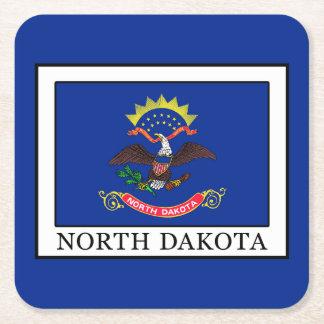 North Dakota Rechteckiger Pappuntersetzer
