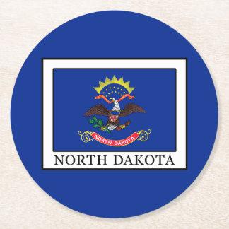 North Dakota Runder Pappuntersetzer