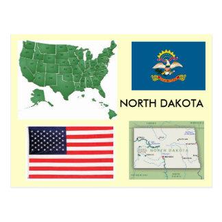 North Dakota, USA Postkarte