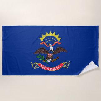 North- DakotaStaats-Flagge Strandtuch