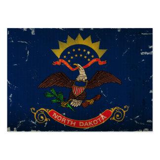 North- DakotaStaats-Flagge WEINLESE Jumbo-Visitenkarten