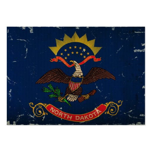 North- DakotaStaats-Flagge WEINLESE Visitenkartenvorlage