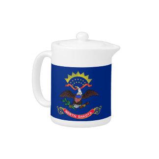 North- DakotaStaats-Flaggen-Teekanne
