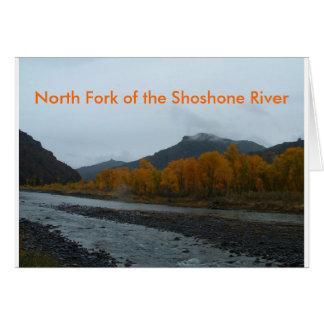 North Fork der Shoshone-Fluss-Gruß-Karte Karte