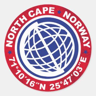 NORTH schmälert SPECIAL NORWAY Runder Aufkleber