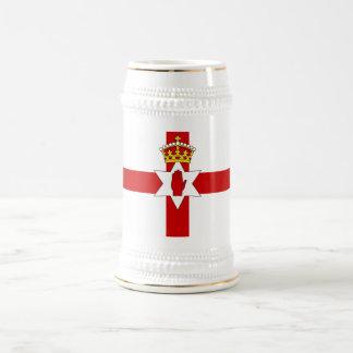 Norther Irland Ulster kennzeichnen Bierglas