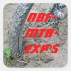 Northern Blackforest Mountainbike Explorers Quadratischer Aufkleber