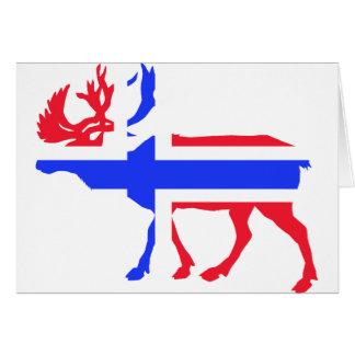 Norwege Elche Grußkarte