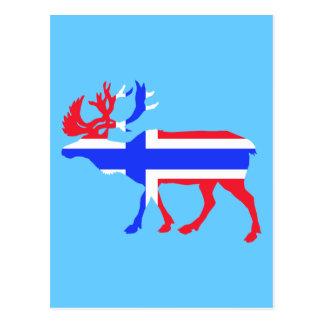 Norwege Elche Postkarte