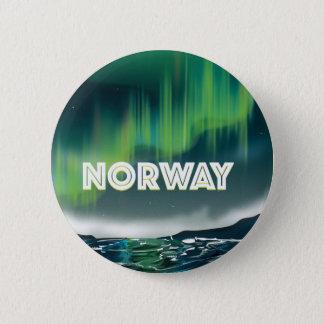 Norwegen-Aurora-Nordlicht-Reise-Plakat Runder Button 5,1 Cm