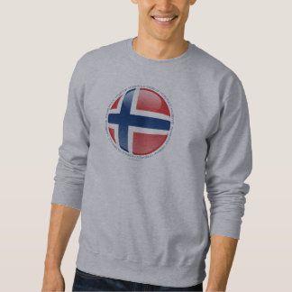 Norwegen-Blasen-Flagge Sweatshirt
