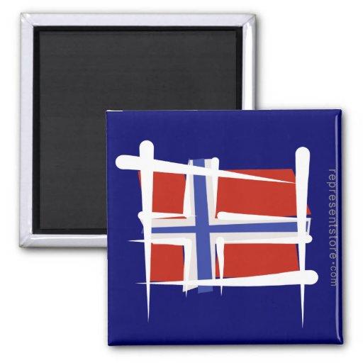 Norwegen-Bürsten-Flagge Magnete