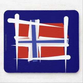 Norwegen-Bürsten-Flagge Mauspads