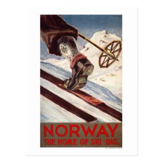 Norwegen - das Zuhause des Skifahrens Postkarte