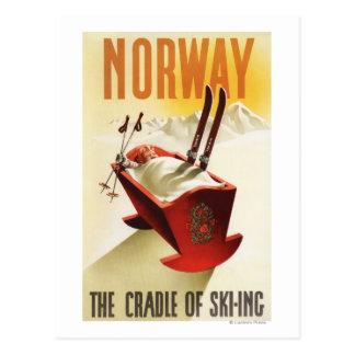 Norwegen - die Wiege des Skifahrens Postkarte