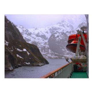 Norwegen, Fijord vom Postendampfer Postkarte