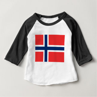 Norwegen-Flagge Baby T-shirt