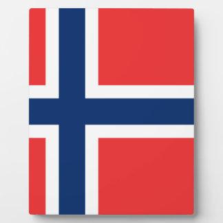 Norwegen-Flagge Fotoplatte