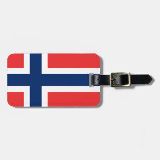 Norwegen-Flagge Gepäckanhänger