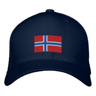 Norwegen Flagge gestickter flexfit Wollehut Besticktes Baseballcap