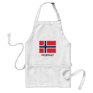 Norwegen-Flagge GRILLEN-Küchen-Schürze für Männer Schürze