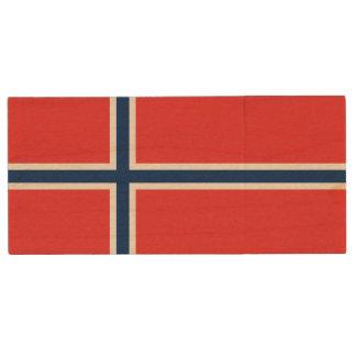 Norwegen-Flagge Holz USB Stick