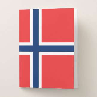 Norwegen-Flagge Mappe