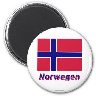 Norwegen Flagge MIT Namen