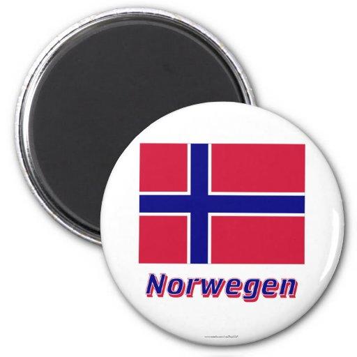 Norwegen Flagge MIT Namen Magnete