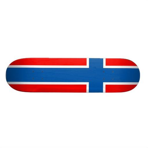 Norwegen-Flagge Personalisiertes Skateboarddeck