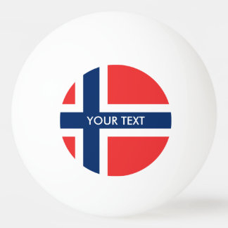 Norwegen-Flaggen-Klingeln pong Bälle für Tischtennis Ball