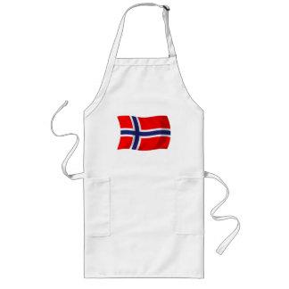 Norwegen-Flaggen-Schürze Lange Schürze