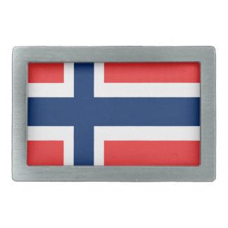 Norwegen-Flaggenentwurf auf Produkt Rechteckige Gürtelschnalle